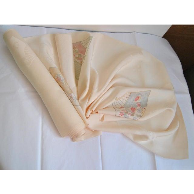 Japanese Rinzu Silk Kimono Fabric For Sale In Salt Lake City - Image 6 of 6