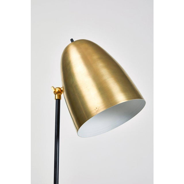 """Brass """"Oro"""" Brass and Metal Floor Lamp For Sale - Image 8 of 12"""