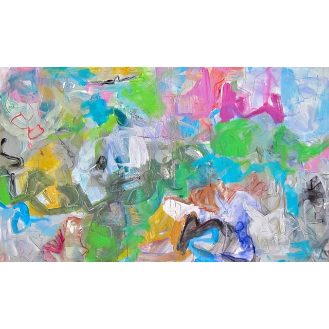 "Trixie Pitts ""Mardi Gras"" Abstract Painting by Trixie Pitts - Image 2 of 4"