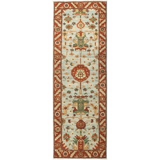 "Serene, Serapi Area Rug - 2' 8"" X 8' 0"" For Sale"