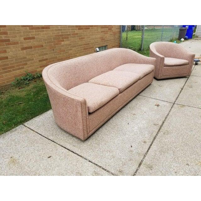 Larsen Furniture Jack Lenor Larsen Low Sofa and Swivel Lounge Chair - A Pair - Image 3 of 11