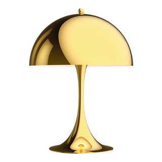 Verner Panton Panthella Mini Led Table Lamp in Brass for Louis Poulsen For Sale