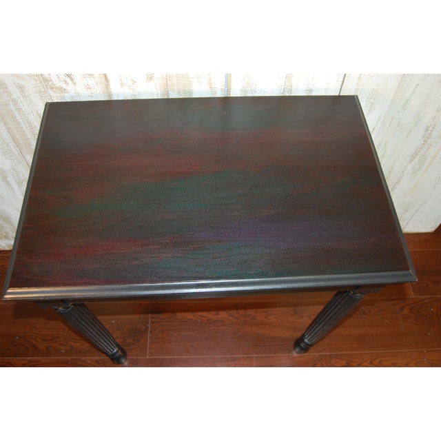 Black Table with Jewel Toned Surface - Image 3 of 8