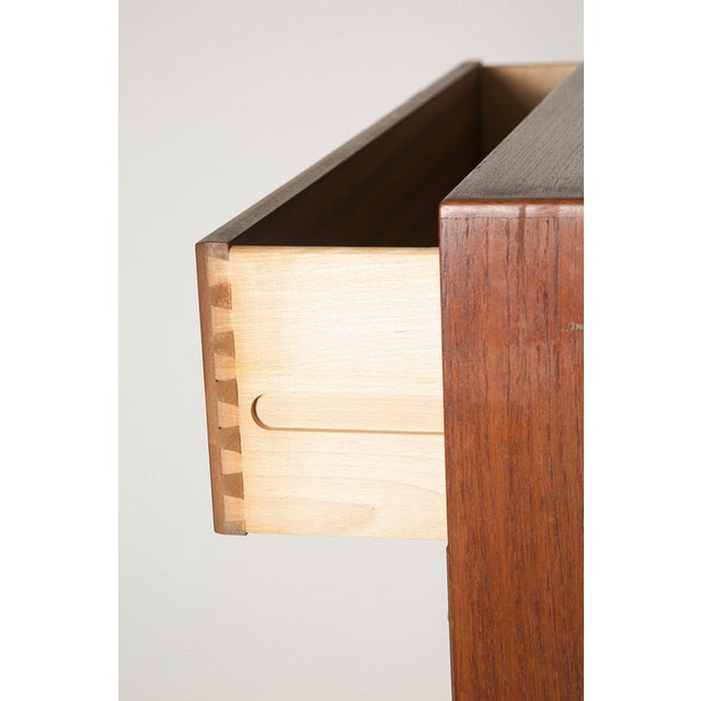 Volther Teak Chest with Tab Pulls For Sale In New York - Image 6 of 8