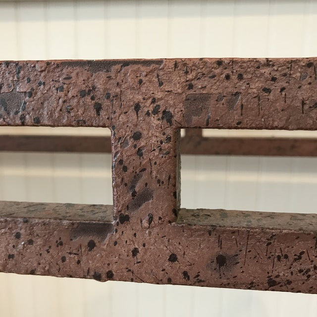 Metal Wrought Iron Wine Rack Console Table For Sale - Image 7 of 13