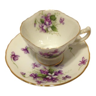 """70-Year-Old Rossetti """"Spring Violets"""" Demitasse/ Tea Cup, Made in Japan"""