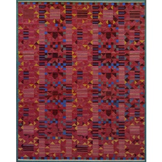 Hand-Woven Swedish Style Wool Flat-Weave Rug For Sale