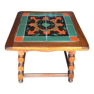Calfornia Catalina Tile Top Table Mission