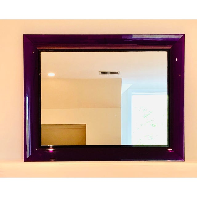 Kartell Purple Francois Ghost Mirror by Phillippe Starck for Kartell For Sale - Image 4 of 10