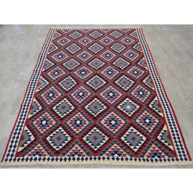 Turkish Kilim Hand-Woven Rug - 4′9″ × 8′2″ - Image 3 of 9