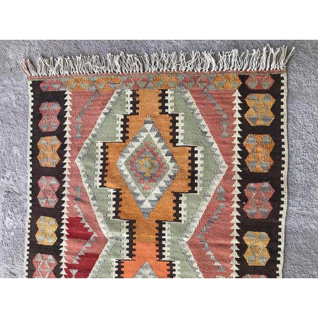 1930s 1930s Vintage Turkish Anatolian Kilim Rug For Sale - Image 5 of 12