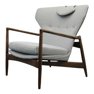 Mid Century Danish Wingback Lounge Chair by IB Kofod-Larsen