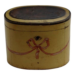 Continental Painted Oval Tea Caddy, late 18th C. For Sale