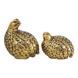 Midcentury Ceramic Pheasants, Pr For Sale