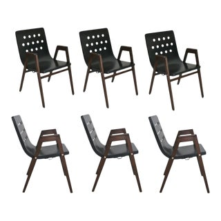 1950s Stadhalle Chairs by Rainer - Set of 6 For Sale