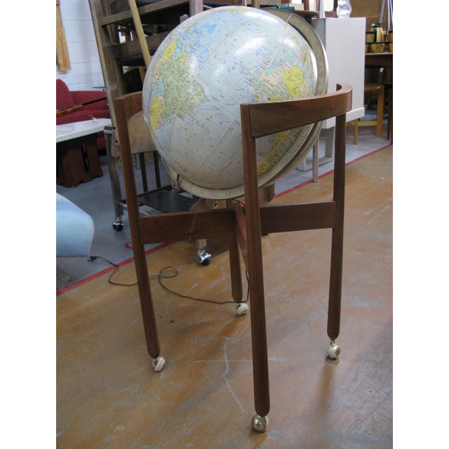 Jens Risom Sculptural Walnut Globe on Casters For Sale - Image 11 of 11