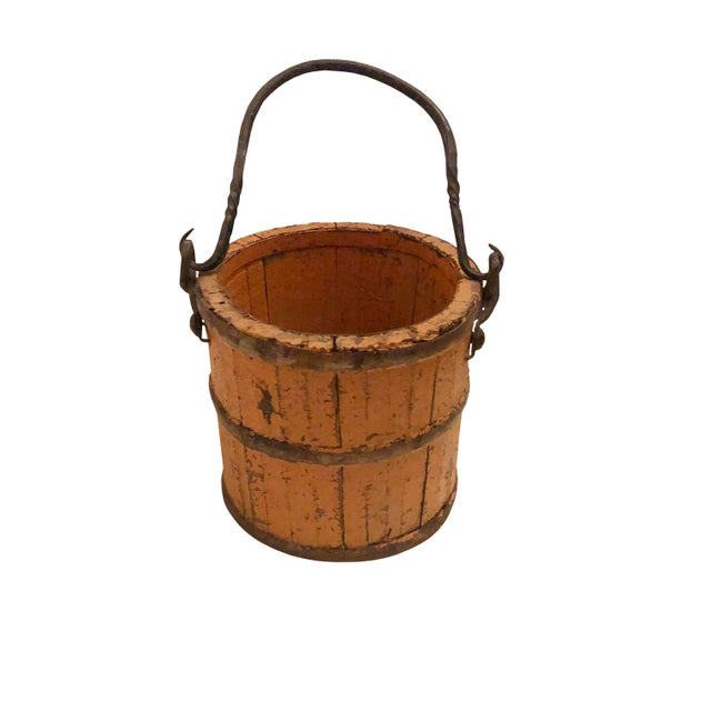 19th Century 19th Century French Wood and Iron Pail For Sale - Image 5 of 7