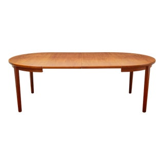 Skovby Mobelfabrik Mid-Century Danish Modern Extendable Teak Dining Table With Two Leaves