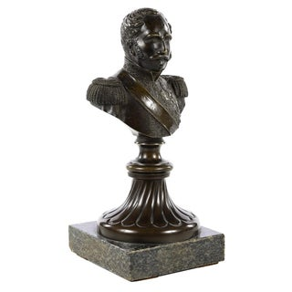 Military Bronze Bust of a General For Sale