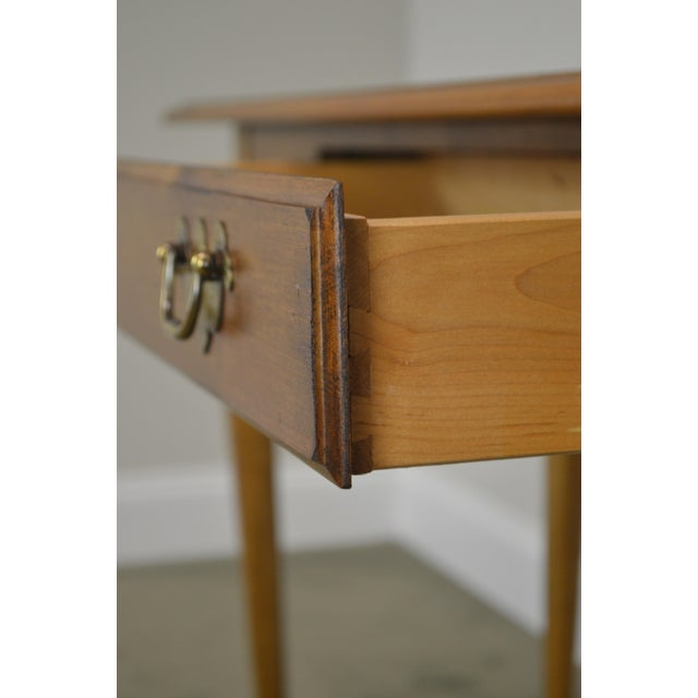 Brown Ethan Allen Circa 1776 Collection Maple Queen Anne Sofa Table Console For Sale - Image 8 of 13