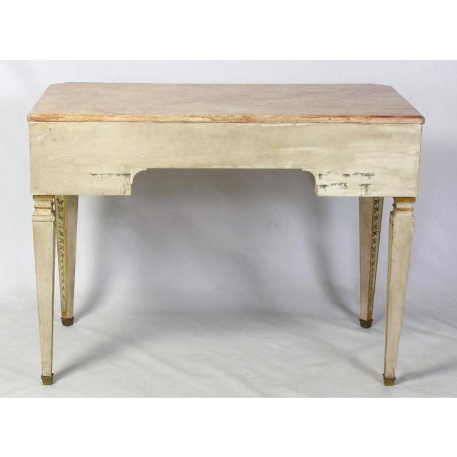 Neoclassical Style Painted Dressing Table or Desk For Sale - Image 4 of 13