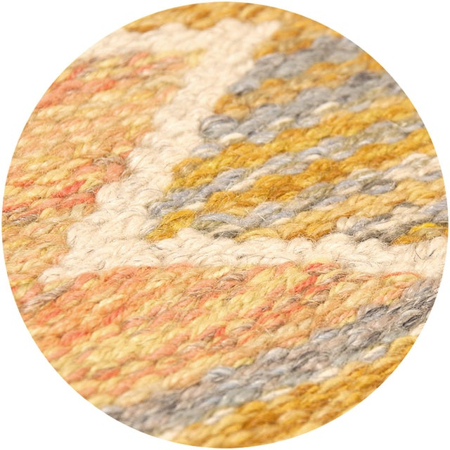 1940s 1940s Swedish Flat Weave Rug by Barbro Nilsson- 5′3″ × 8′4″ For Sale - Image 5 of 6