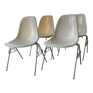 Mid Century Shell Chairs - Set of 4 For Sale