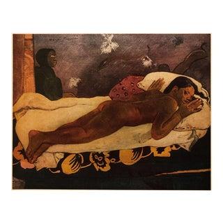 1950s Paul Gauguin, Art Nouveau Tahitian Nude Vintage Lithograph For Sale