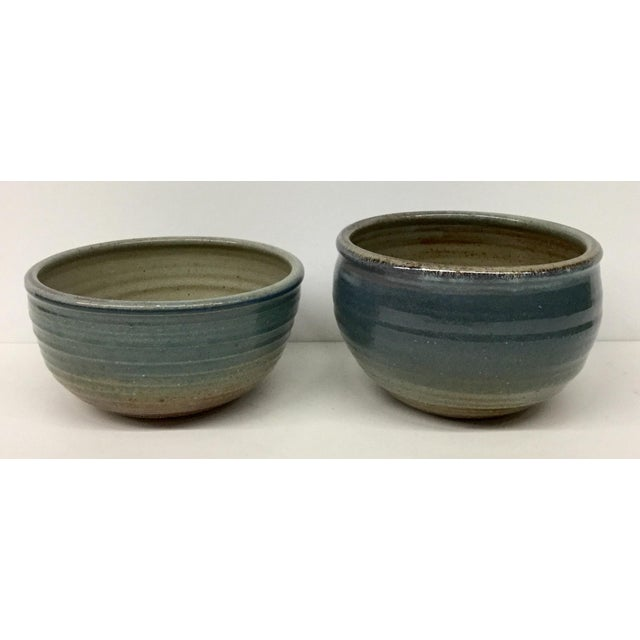 Vintage Hand Thrown Clay Bowls - A Pair For Sale - Image 13 of 13