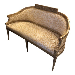 19th Century Vintage Gilded Italian Settee For Sale