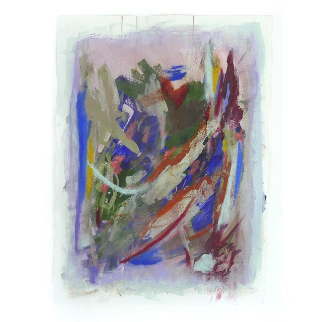 Large Abstract Diptych Signed Acrylic on Paper dated 2014, Framed under Glass Offered for sale is a large abstract acrylic...