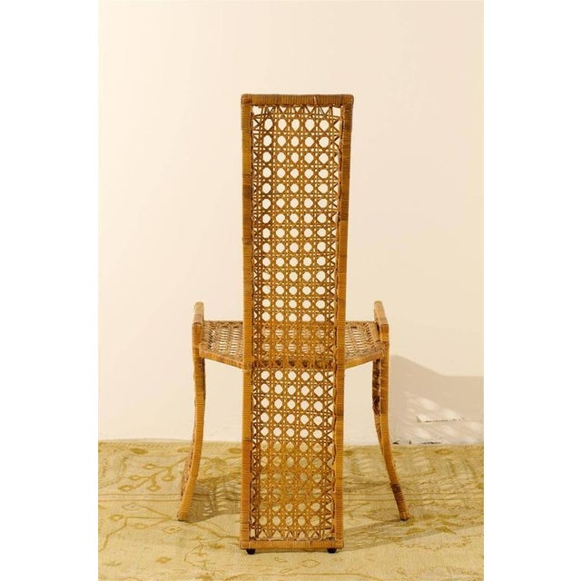 Tropi-cal Fabulous Set of Twelve Rattan Dining Chairs by Danny Ho Fong For Sale - Image 4 of 11