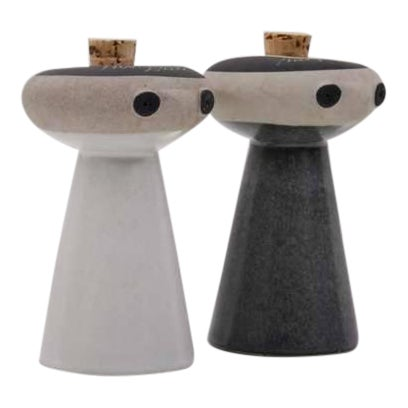 Mr. Salt and Mrs. Pepper from Bennington Pottery by David Gil For Sale