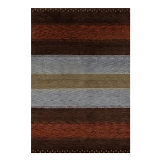 Contemporary Momeni Desert Gabbeh Hand Knotted Multi Wool Area Rug - 2' X 3'