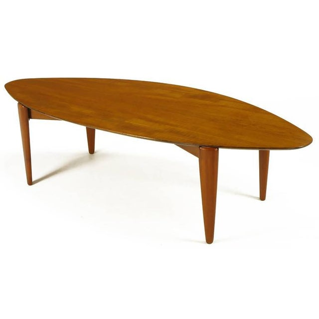 Double Parabola Teak Coffee Table in the Manner of Finn Juhl - Image 2 of 8