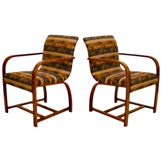 Pair of Art Deco Armchairs, Gilbert Rohde for Heywood Wakefield For Sale
