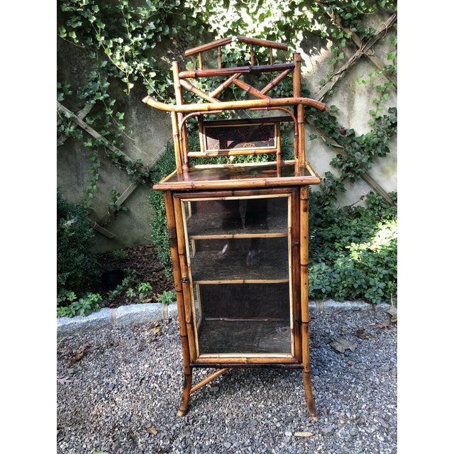 19th Century English Bamboo Cabinet For Sale - Image 11 of 11