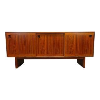 Mid Century Danish Modern Rosewood Slide Door Credenza For Sale