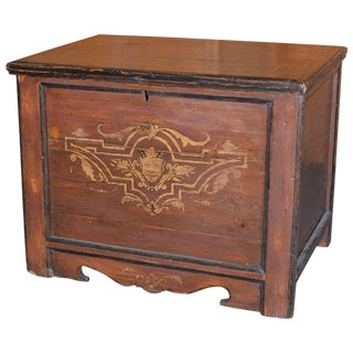 Painted Country Hope Chest For Sale