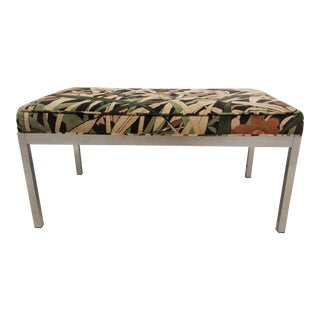 Mid Century Aluminum Floral Bench For Sale