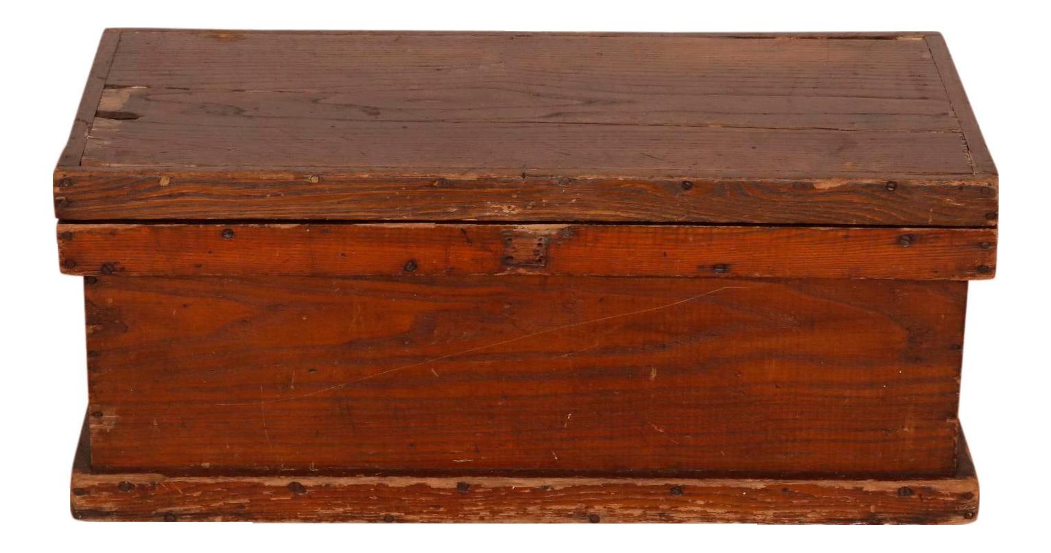 Antique Pine Blanket Chest Chairish