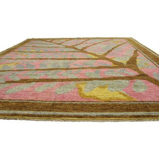 New Contemporary Moroccan Style Area Rug With Postmodern Biophilic Design - 12'4 X 15'6 Preview