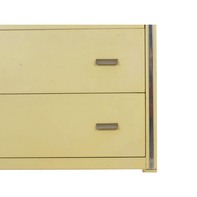 Circa 1930s Art Deco Yellow Enamel Chest of Drawers Dresser by Norman Bel Geddes For Sale - Image 9 of 13