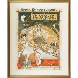 1890s Antique Theophile Alexandre Steinlen Le Reve Lithograph Poster For Sale