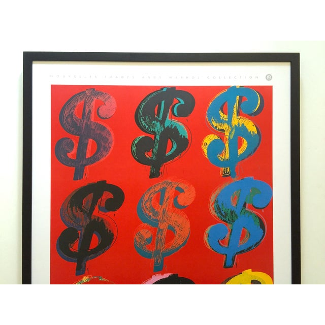 """This Andy Warhol estate rare vintage 1989 first edition offset lithograph print large custom framed Pop Art poster """"..."""