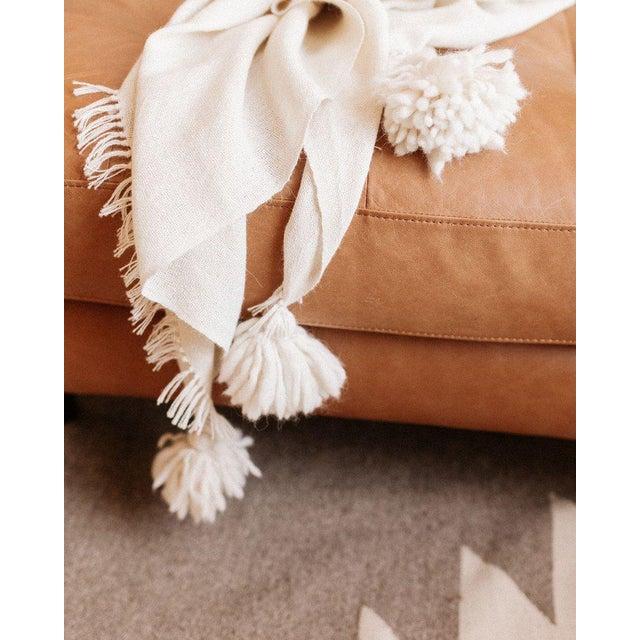 Handmade Ivory Pampa Alpaca Throw For Sale - Image 4 of 6