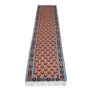 "Antique Turkish Anatolian Kilim Runner Rug - 2'6"" x 10' For Sale"