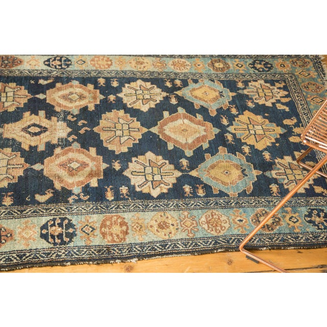 "Shabby Chic Antique Malayer Rug Runner - 3'8"" x 6'10"" For Sale - Image 3 of 10"