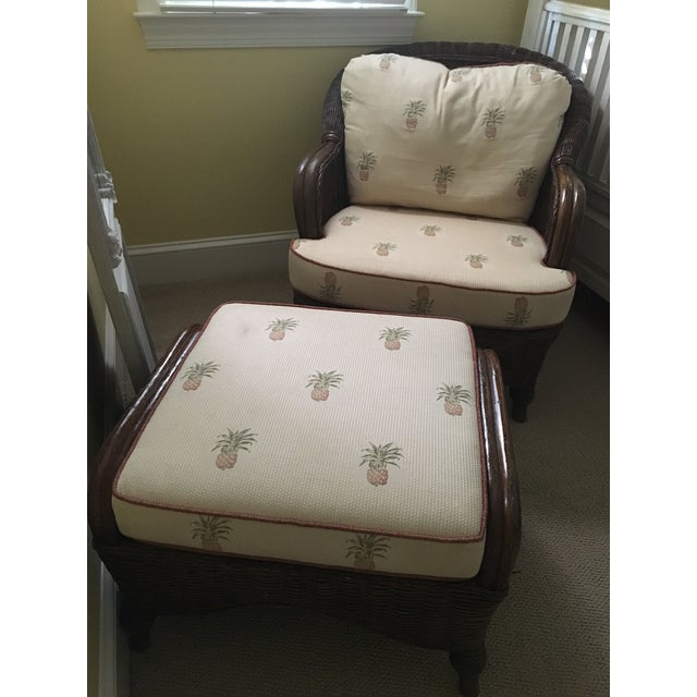 Lexington Casual Willow Chair and Ottoman - Image 2 of 8