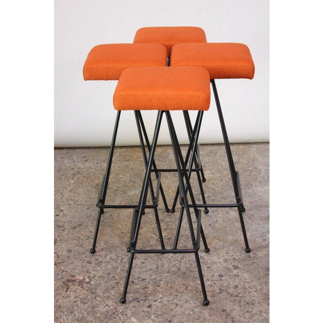 Set of Four Adrian Pearsall #11 Iron Barstools For Sale - Image 11 of 11